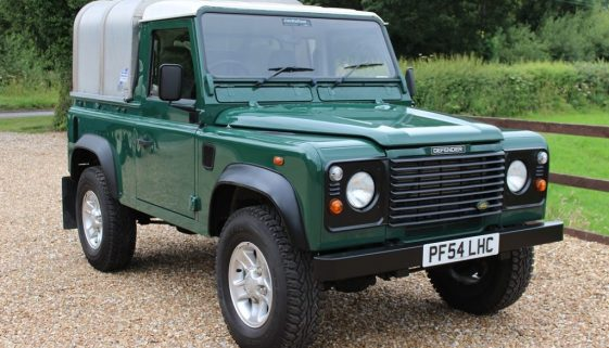 2005 54 DEFENDER 90 TD5 PICK UP CONNISTON GREEN