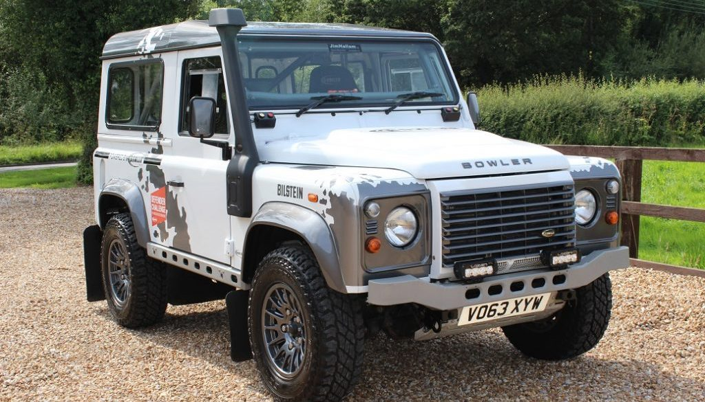 2013 63 DEFENDER 90 TDCI CHALLENGE SPECIFICATION RALLY CAR FUJI WHITE